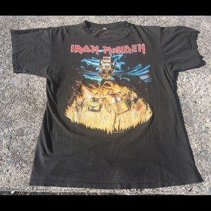 Vintage Iron Maiden Holy Smoke Band Tour 90s Shirt